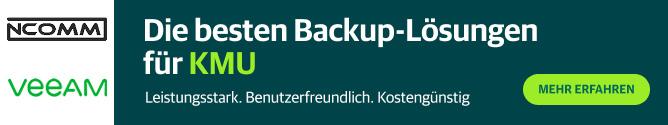 Bestes Backup für KMU